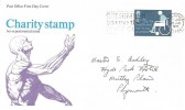 1975 Charity, Post Office FDC, Remember to Use the Post Code Slogan Tavistock Devon