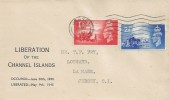 1948 Liberation of the Channel Islands, Display FDC, Jersey Cancel