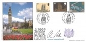 1992 General Election Bradbury Cover, 1992 General Election London SW1 H/S, signed by The Rt. Hon. Chris Patten MP