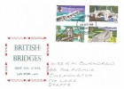 1968 British Bridges, Holmes Tolley FDC, Stoke on Trent Staffs FDI
