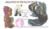 2007 Abolition of Slavery, B.J.P. Riff FDC, 1st Class William Wilberforce Stamp only, Am I not a Man and a Brother First Day of Issue Hull H/S