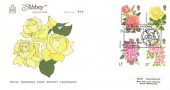 1976 Roses, Abbey FDC, The Royal Rose Society 1876 - 1976 St. Albans H/S
