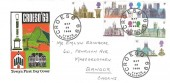 1969 British Cathedrals, Croeso 69 Towyn Official FDC, Croeso 69 Tywyn Merioneth H/S