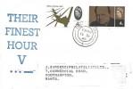 1965 Battle of Britain, J Sanders (Philatelists) Ltd. FDC, 4d Stamp + 4d Churchill stamp, Southampton cds