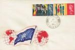 1965 Salvation Army, Handmade Blood & Fire FDC, Bishopstone Swindon Wilts.cds