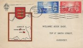1948 Channel Islands Liberation, Williams' book Shop Guernsey FDC, Guernsey Cancel
