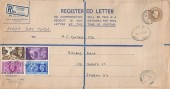 1948 Olympic Games Wembley, KGVI K Size Registered Envelope, Stanford Le Hope Essex cds