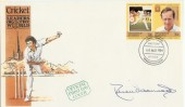 1984 St.Vincent Cricket FDC signed by Derek Underwood