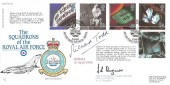 1996 100 Years of Cinema, RAF FDC 37 Official FDC, No. 617 Dambusters Squadron British Forces 2501 Postal Service H/S, Signed by Richard Todd