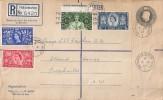 1953 Coronation, Registered Envelope FDC, Freshwater Isle of Wight cds