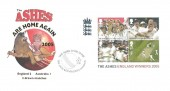 2005 Cricket The Ashes M/S, Buckingham Covers Official FDC, The Ashes Come Home The Oval Kennington London H/S