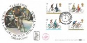1978 Cycling Centenary, Benham BOCS 5 Official FDC, TI Raleigh World's Largest Bicycle Manufacturer Nottingham H/S