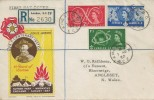 1957 Scout Jubilee Jamboree, Registered Francis J Field  FDC, King St.BO EC2 cds