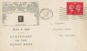 1940 Postage Stamp Centenary, Illustrated FDC, 1d stamp only, Farnham Surrey Cancel