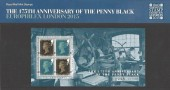 2015 175th Anniversary of the Penny Black Europhilatex London 2105 Overprinted Presentation Pack