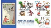 2006 Animal Tales, Benham BLCS319 Official FDC, 68p Pair of Stamps, Mousehole Penzance H/S, Doubled with US Joint Issue on the same day, Animal First Day of Issue Findlay OH 45840 H/S