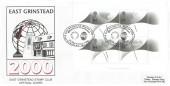1999 Millennium Timekeepers Miniature Sheet, East Grinstead Stamp Club Official FDC, East Grinstead Stamp Club Millennium Timekeeper H/S