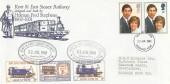 1981 Royal Wedding Kent & East Sussex Railway Special FDC, Ashford Kent FDI