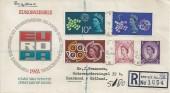 1961 CEPT, Registered Illustrated German FDC, FPO 988 cds, Station HQ RAF Bruggen