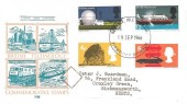 1966 British Technology, Philart FDC, Phosphor Set, Newport Isle of Wight FDI
