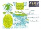 1964 Shakespeare Festival, FAGA Series Greetings Card, 3p Stamp only, Portsmouth Hants, FDI