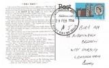 1966 Westminster Abbey, Postcard of Big Ben, 3d Ordinary stamp only, London EC FDI