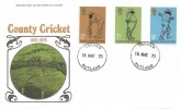 1973 County Cricket Centenary, Post Office FDC, Oakham Rutland cds