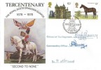 1978, Shire Horse Society, SP Official FDC, 13p Stamp Only, Royal Scots Dragoon Guards BF 1678 PS H/S, signed