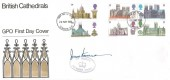 1969 British Cathedrals, GPO FDC, London EC FDI, Signed by Postmaster General John Stonehouse with Cachet