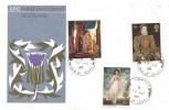 1968 British Paintings, GPO Scotland FDC, No 1/9d Haywain stamp, Bowmore Isle of Islay cds