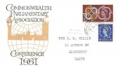 1961 CEPT,  Commonwealth Parliamentary Association Conference FDC, 2d Stamp only, Aldershot Hants cds