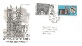 1966 Westminster Abbey, Stuart FDC, St. Nicholas Guildford Surrey cds