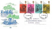 1970 Literary Anniversaries, Philart Philatelic Cover FDC, 4 x 5d Dickens Stamps only, Rochester Kent FDI