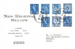 1966 QEII 4d Regional Issue, Display FDC, Doncaster Yorkshire cds