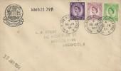 1954 QEII, 3d, 6d, 7d Wilding, Stamp Exchange Cachet FDC, Park Palace Liverpool 8 cds