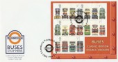 2001 Buses M/S Steven Scott Official FDC, London Transport London,s Transport Museum H/S