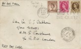 1953 QEII 5d, 8d, 1s Wilding Definitive Issue, Plain FDC, Long Live the Queen Slogan Frinton-on-Sea