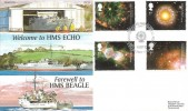 2002 Astronomy, Royal Naval Philatelic Society Official FDC, Welcome HMS Echo Farewell HMS Beagle BF 2667 PS H/S