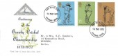 1973 County Cricket Centenary, North Herts. Stamp Club FDC, Stevenage Herts. FDI