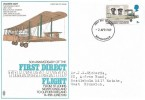 1969 Notable Anniversaries, Trident 50th Anniversary of the First Direct Transatlantic Flight FDC, 5d Vickers Vimy stamp only, Birmingham FDI