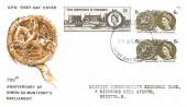 1965 700th Anniversary of Parliament, GPO FDC, both Phosphor & Ordinary sets on the one cover, Bristol FDI