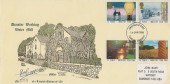 1986 Industry Year, Dunster Working Water Mill FDC, Taunton Somerset FDI, signed by the Miller