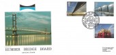 1983 Engineering, Hawkwood Official FDC, 2 Years a Tribute to British Engineering World's Longest Single Span Humber Bridge Hull H/S