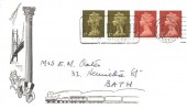 1968 QEII ½d x 2 &1d x 2 only Definitive Issue, Bath FDC, However you travel BATH Delights Visitors Slogan