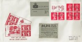 1969 QEII 2/- Booklet 2 Panes, Illustrated FDC, Redhill Surrey cds, complete with Booklet cover