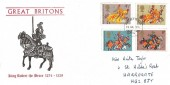 1974 Great Britons, William F Taylor FDC, Harrogate Yorkshire FDI