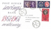 1961 Post Office Saving Bank, Illustrated FDC, Queen's Road Brighton Sussex cds