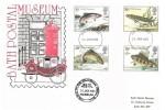 1983 British River Fish, Bath Postal Museum FDC, Bath FDI, Posted in The Victorian Wall Box Bath Postal Museum Cachet