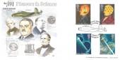 1991 Scientific Achievements, Bradbury LFDC No.95 Official FDC, Sir Frank Whittle Jet Engine Lutterworth Leics. H/S