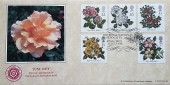 1991 Roses, Bradbury LFDC No.98 Official FDC, The Royal National Rose Society St. Alban Herts. H/S